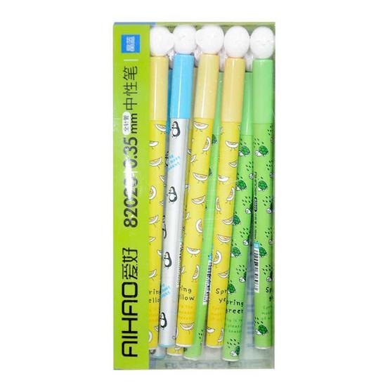 Aihao ปากกาเจลแฟนซีหัวไข่ 0.35 mm คละลาย คละสี (12 แท่ง/กล่อง)