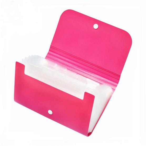 Deli กระเป๋าแฟ้มหีบเพลงใบเล็ก 13 ช่อง ขนาด A6 คละสี