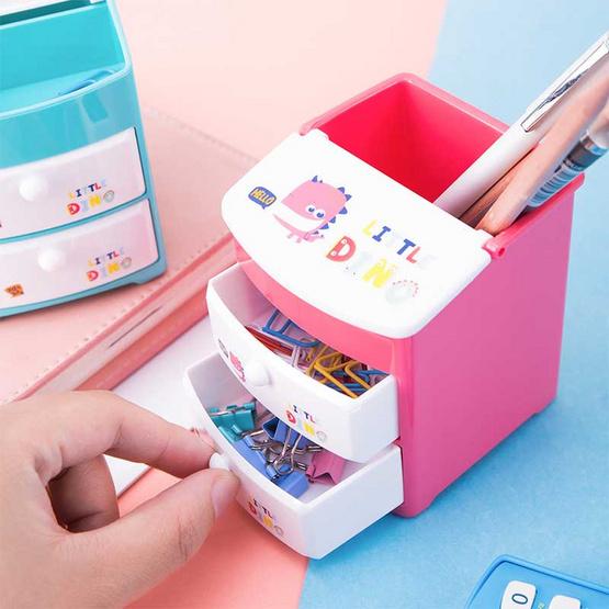 Deli กล่องใส่ปากกาเครื่องเขียน+ลิ้นชักมินิ (คละลาย คละสี)
