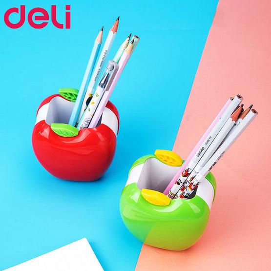 Deli ที่ใส่ปากกาทรงแอปเปิ้ล (คละสี1ชิ้น)