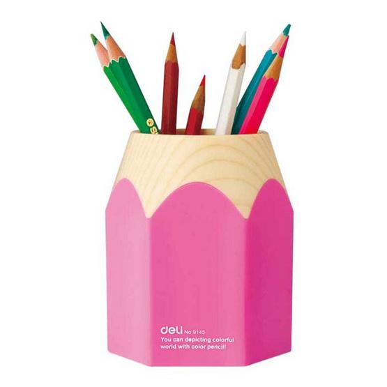 Deli ที่ใส่ปากกา ทรงดินสอ คละสี 1 ชิ้น
