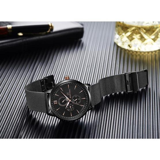 นาฬิกา Naviforce รุ่น NF3003M สีทองชมพู/ดำ