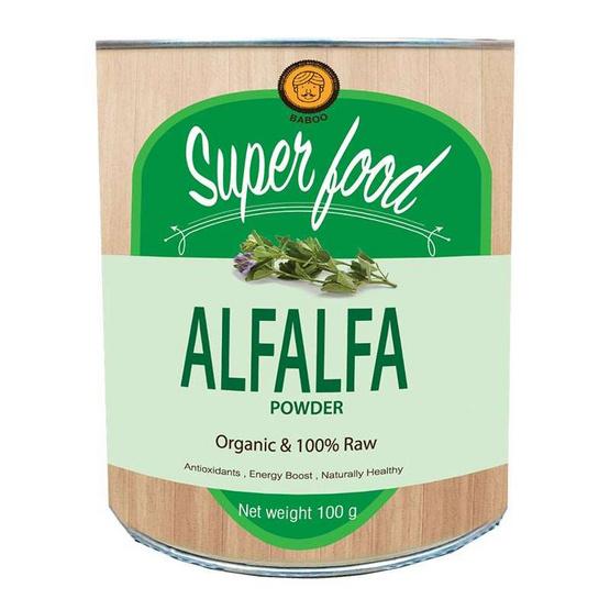 Baboo ผงสารสกัดจากอัลฟัลฟ่า ตราบาบู ขนาด 100 กรัม (แพ็ค 3)
