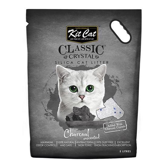 Kit Cat ทรายแมวคริสตัล สูตร Carbon 5 ลิตร