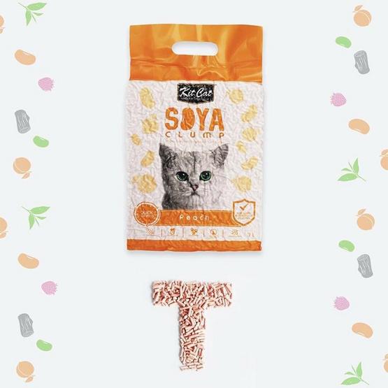 Kit Cat SoyaClump ทรายแมวเต้าหู้ สูตร Peach ขนาด 7 ลิตร