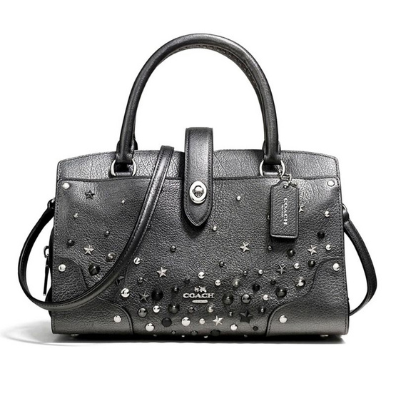 กระเป๋า COACH 59146 MERCER SATCHEL 24 WITH STAR RIVETS (SVM4Z) [MC59146SVM4Z]