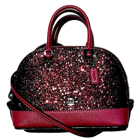 กระเป๋า COACH F22891 MICRO MINI SIERRA SATCHEL WITH STAR GLITTER  (SVNUB) [MCF22891SVNUB]