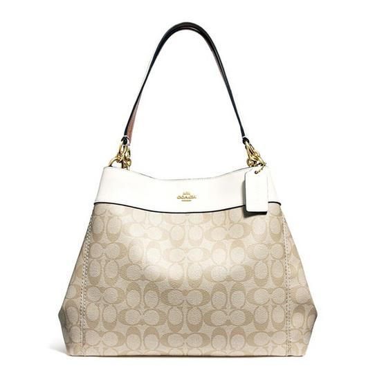 กระเป๋า COACH F27972 LEXY SHOULDER BAG IN SIGNATURE CANVAS (IMDQC) [MCF27972IMDQC]