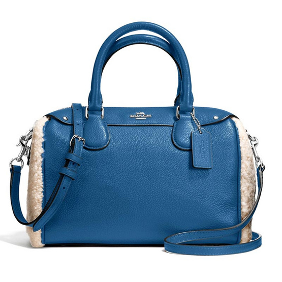 กระเป๋า COACH F36689 MINI BENNETT SATCHEL IN SHEARLING AND LEATHER (SVEI3) [MCF36689SVEI3]