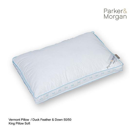 Parker & Morgan เวอร์มอนต์ หมอนขนเป็ดแท้ (50% ขนอ่อน : 50% ขนปีก) King