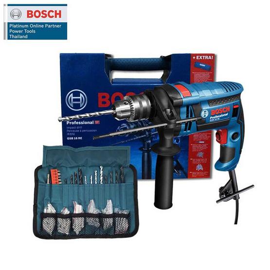 BOSCH ชุดสว่านกระแทก 16 มม. GSB 16 RE 100PCS SET