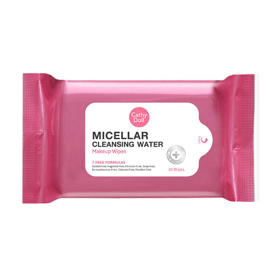 Cathy doll micella cleansing water makeup wipe 30 pcs.