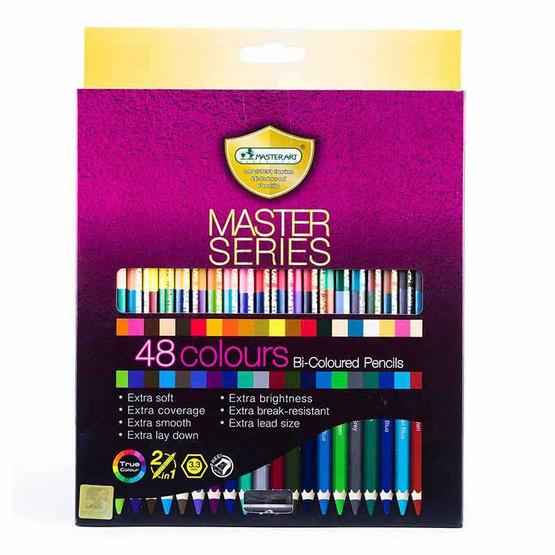 Master Art ดินสอสีมาสเตอร์อาร์ต 2 หัว 48 สี รุ่นมาสเตอร์ซีรี่ย์