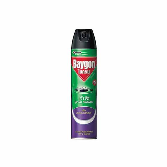 ไบกอน สเปรย์กำจัดยุง มด แมลงสาบ กลิ่นลาเวนเดอร์ 600 มล.