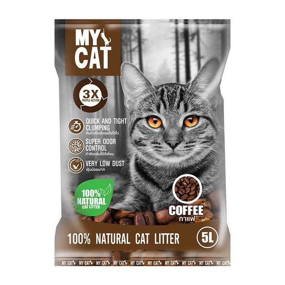 MY CAT ทรายแมวเบนโทไนท์กลิ่น กาแฟ
