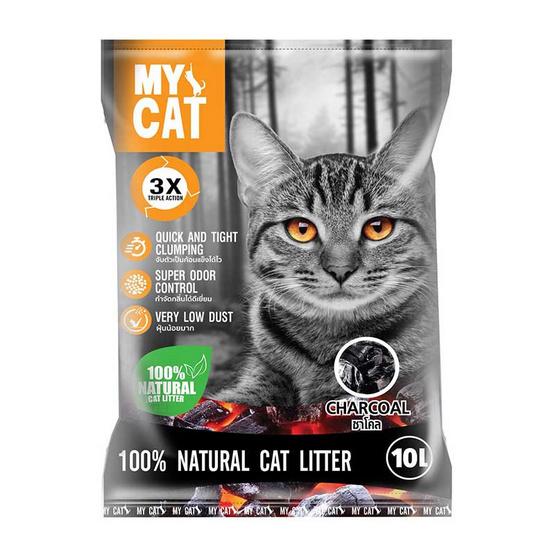 MY CAT ทรายแมวเบนโทไนท์กลิ่น ชาโคว