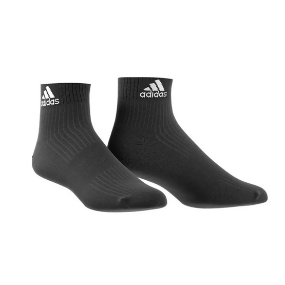 Adidas ถุงเท้า Adidas 3 Stripe Performance Ankle Half Cushioned 1 Pack AA2292 Black/White
