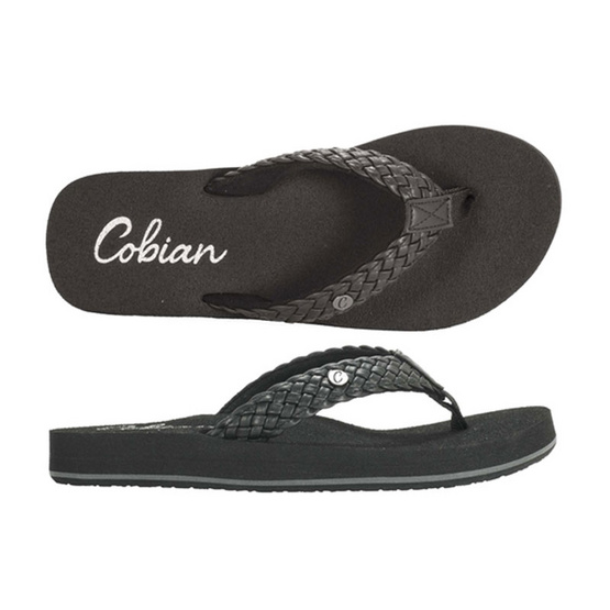 Cobian รองเท้าผู้หญิง BRB10-001 W-BRAIDED BOUNCE SANDAL BLACK