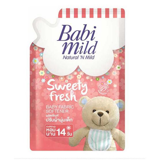 Babi Mild ผลิตภัณฑ์ปรับผ้านุ่ม กลิ่น สวีทตี้เฟรช ถุงเติม 1,500 มล. (แพ็ค 2)