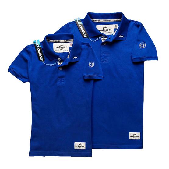 RUDEDOG เสื้อโปโล รุ่นรันอะเวย์ สีน้ำเงิน