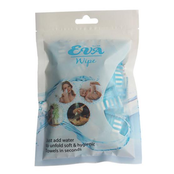 EVA Wipe อีวา ไวพ์ ผ้าอเนกประสงค์ แบบอัดเม็ด (แบบลูกอม) ขนาด 22 x 24 ซม. บรรจุ 30 ชิ้น/ซอง