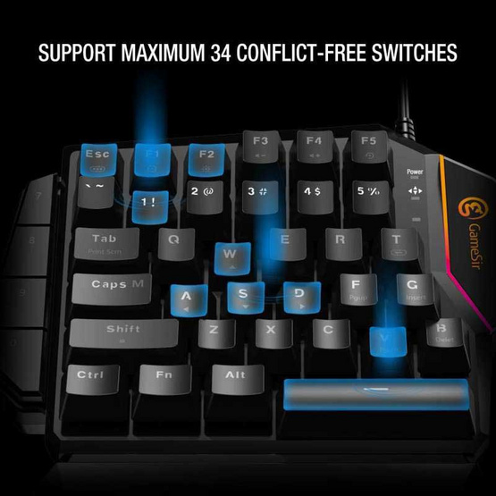 GameSir Gaming Keypad Mechanical Blue Switches รุ่น GK100