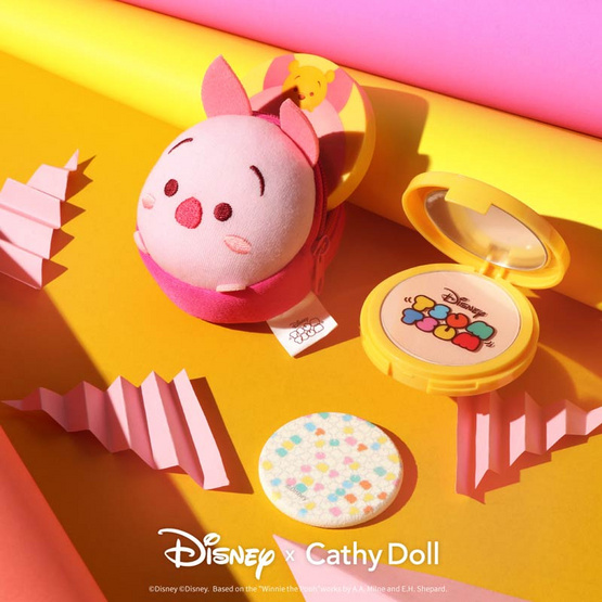 Cathy Doll Disney Tsum Tsum CC Powder Pact SPF40 PA+++ 12 g #21 Light Beige (Tigger)