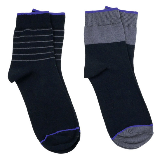 PALLY ถุงเท้า Business Black Socks 2 Pairs Weight 90 grams Black