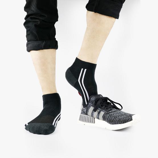 PALLY ถุงเท้า Sport Black Socks 2 Pairs Weight 90 grams Black