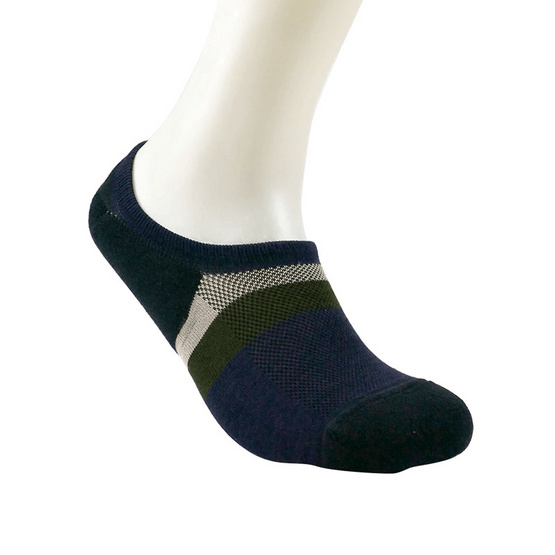 emoo ถุงเท้า Men's Premium Bamboo Seamless No Show Socks สี Navy