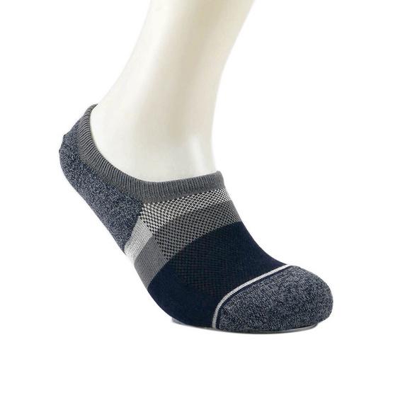 emoo ถุงเท้า Men's Premium Bamboo Seamless No Show Socks สี Dark Grey