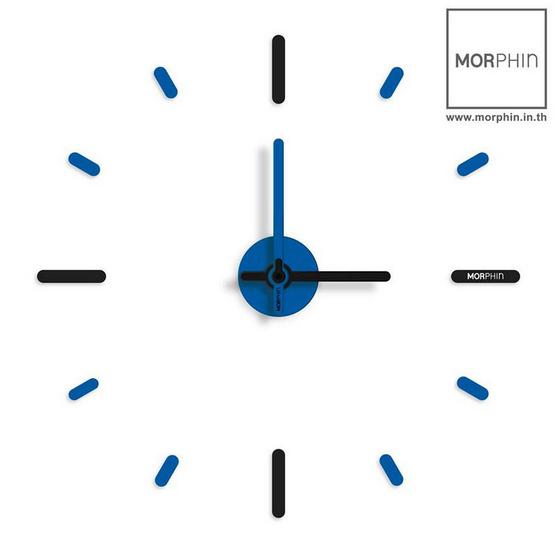 Morphin นาฬิกาไม่เจาะผนัง สีดำ-ฟ้า (Black-Blue) ขนาด 56 ซม.