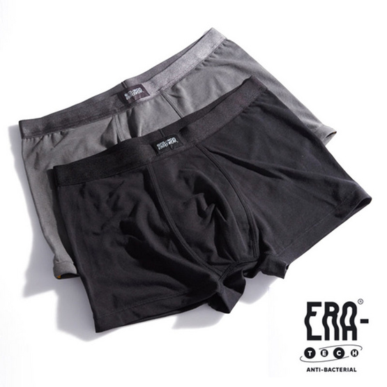 ERA-WON กางเกงในชาย Underwear ทรง Trunk Pack 2 (Black/Grey) 3223MX03 สี Black/Grey