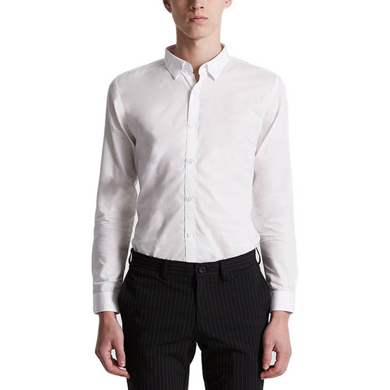 ERA-WON เสื้อเชิ้ตทำงาน Workday Shirt Cotton no.60 0896WH01 สี Off-White