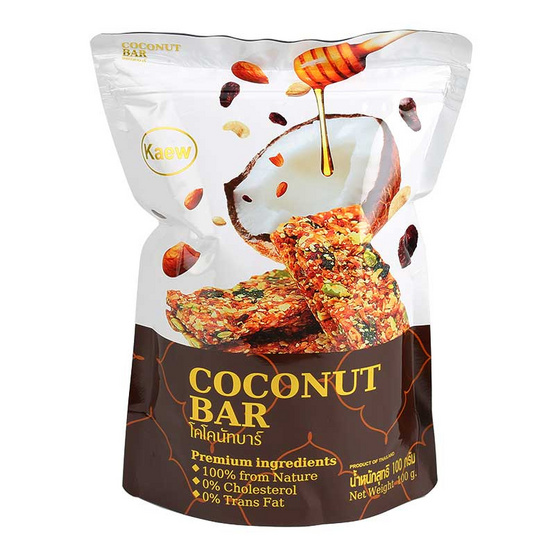 โคโคนัทบาร์ (แผ่นธัญญพืชกรอบ) 100 กรัม