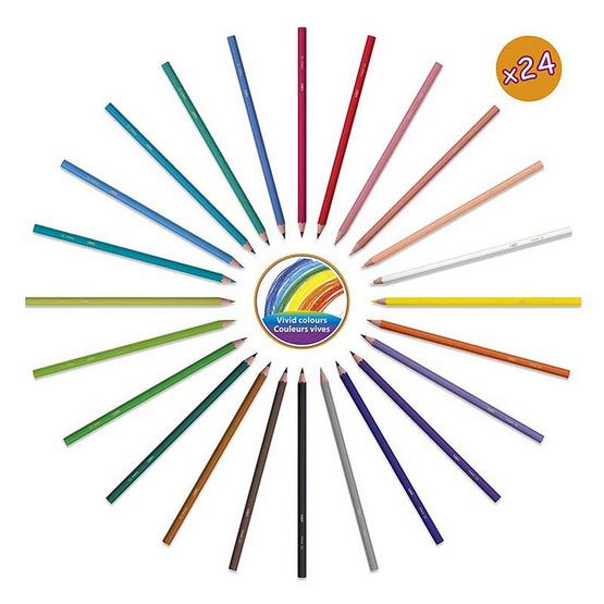 BIC Kids ดินสอสีไม้ Tropicolors 24 สี