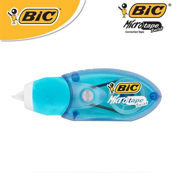 BIC เทปลบคำผิด Micro Tape Twist 5 มม. x 8 ม. (12 ชิ้น/กล่อง)
