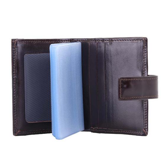 MOONLIGHT กระเป๋าใส่บัตร Moonlight หนังวัวแท้ รุ่น Professtional สีน้ำตาลเข้ม