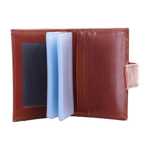 MOONLIGHT กระเป๋าใส่บัตร Moonlight หนังวัวแท้ รุ่น Professtional สีน้ำตาลอ่อน