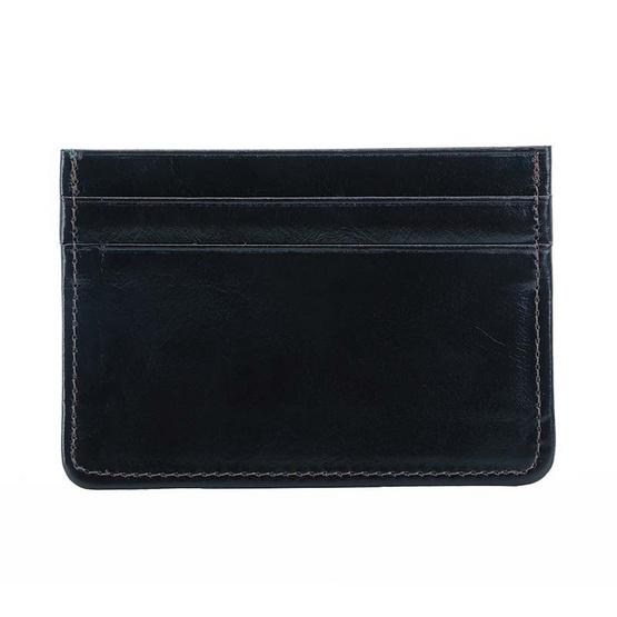 MOONLIGHT กระเป๋าใส่บัตร หนังแท้ รุ่น Simply สีดำ