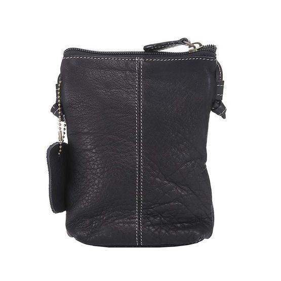 MOONLIGHT กระเป๋าสะพายหนังแท้รุ่น Memo สีดำ