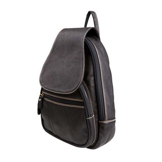 MOONLIGHT กระเป๋าเป้หนังแท้สะพายหลัง รุ่น The Cover สีดำ Size M