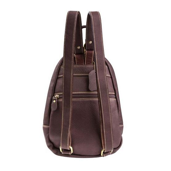 MOONLIGHT กระเป๋าเป้หนังแท้สะพายหลัง รุ่น The Cover สีน้ำตาลเข้ม Size M