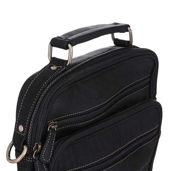 MOONLIGHT กระเป๋าหนังแท้ ทำจากหนังวัว หิ้วได้ สะพายได้ สำหรับผู้ชาย รุ่น Master สีดำ