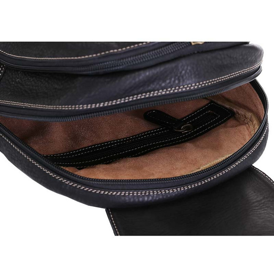 MOONLIGHT กระเป๋าเป้หนังแท้ ทำจากหนังวัวแท้ 100% นุ่ม ทน เท่ รุ่น Charlie สีดำ