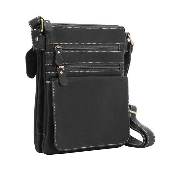 MOONLIGHT กระเป๋าสะพายหนังวัวแท้ รุ่น Zixma สีดำ