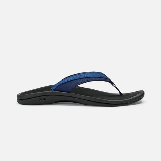 Olukai รองเท้าผู้หญิง 20110-4A40 W-OHANABLUEBERRY/BLACK