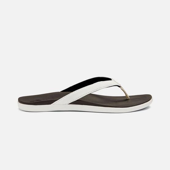 Olukai รองเท้าผู้หญิง 20294-4R40 W-HO'OPIO WHITE/BLACK
