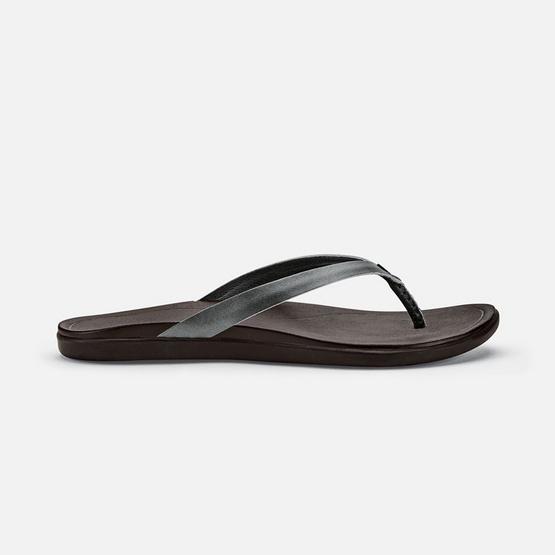 Olukai รองเท้าผู้หญิง 20290-TZ48 W-HO'OPIO LEATHER DUSTY OLIVE/DARK JAVA