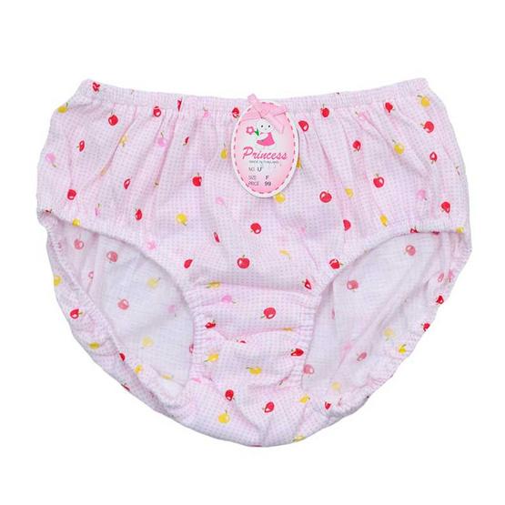 Princess Bra กางเกงชั้นในเด็กยางสอดพิมพ์ลายสก็อตแอปเปิ้ล คละสี แพ็ค 3
